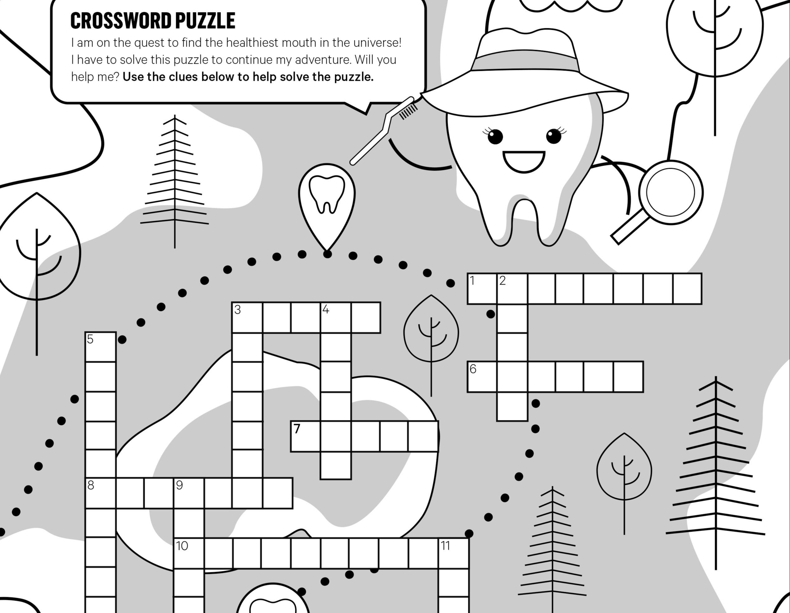 Kids' Smile Zone Crossword Puzzle
