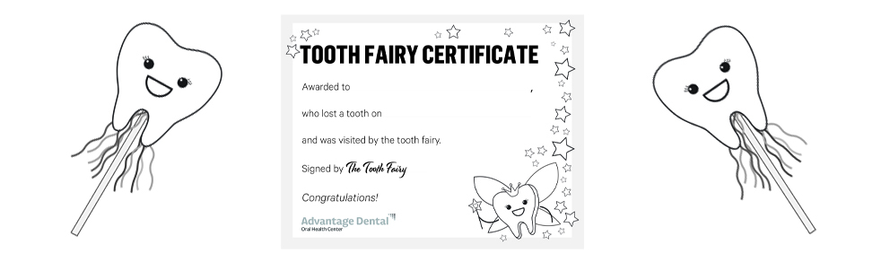 Kids' Smile Zone Tooth Fairy Certificate Promo